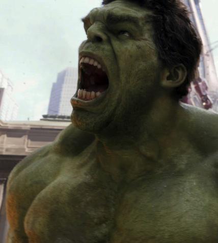 avenger hulk close up